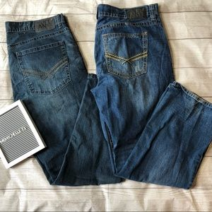 Axel Mens Size 38 Straight Leg Jeans Bundle of 2